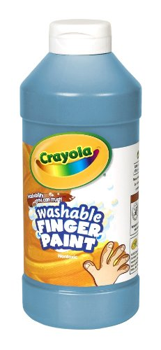 Crayola Washable Fingerpaint 32-Ounce Plastic Squeeze Bottle, Blue front-1047928