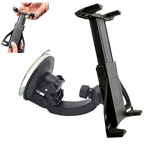 ChargerCity 360° swivel adjust windshield suction mount for Apple iPad Air Mini PRO Google Nexus Samsung Galaxy Tab S Note Microsoft Surface Tablets (compatible with all 7