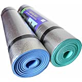 New Set of 2 x 180cm Camping Yoga Roll Eva Foil Foam backed Sleeping Mat Mattress Tent Festival Exercise 5mm