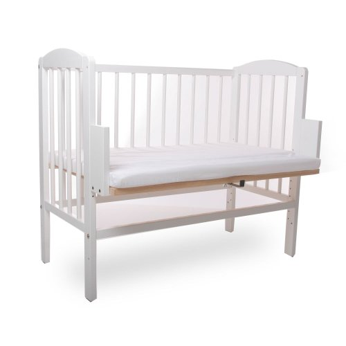 BABYBLUME-Kinderbett-Gitterbett-Beistellbett-Maria-90x40cm-Weiss-inklusive-Matratze