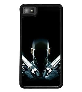 printtech Hitman Codename 47 Gun Back Case Cover for BlackBerry Z10