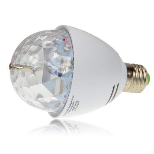 Hosl Crystal Ball Stage Lights Led E27 Rgb Rotating Lamp For Party Disco Dj Bar