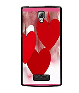 printtech Heart Love Back Case Cover for Lenovo A2010