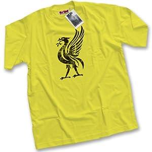Hotscamp Premium Liver Bird Liverpool Icon Mens Yellow T-shirt Xxl