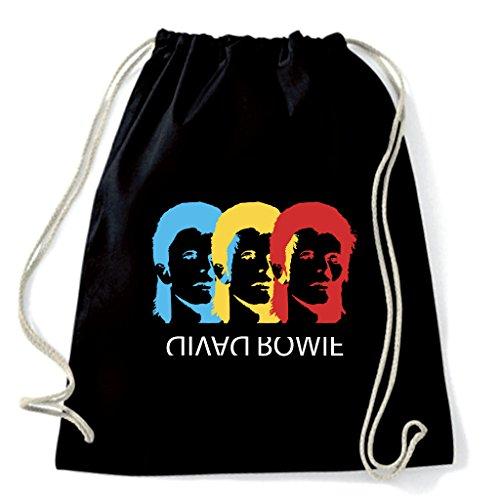 Art T-shirt, Zaino Sacca David Bowie, Nero