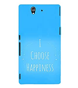 EPICCASE I choose happiness Mobile Back Case Cover For Sony Xperia Z (Designer Case)