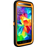 Otterbox [Defender Series] Samsung Galaxy S5 Case - Frustration-Free Packaging Protective Case for Galaxy S5  - (Blaze Orange/Black/Max 5 Design)