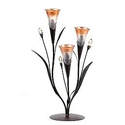Dawn Lilies Tealight Candle Holder Wedding Centerpieces 17\