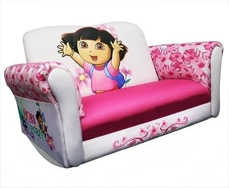 ... Sofa & Chairs Sets: Dora the Explorer Pink/White Rocking Sofa