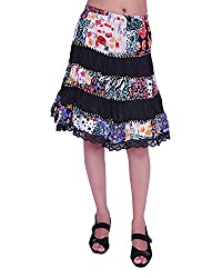JEVARAZ Women's Cotton Casual Skirt (jvrz9001, Multi-Color, Free size)
