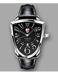 Bargain!! Towson Pride II Watch with Leather Band (Black Dial) Special offer