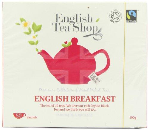 English Tea Shop Diamond Jubilee English Breakfast Organic and Fairtrade Tea Bags (50 Sachets)