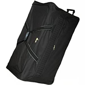 Borderline Extra Large 40 Inch Wheeled Luggage Bag (Black) - Massive 197 Litres Capacity