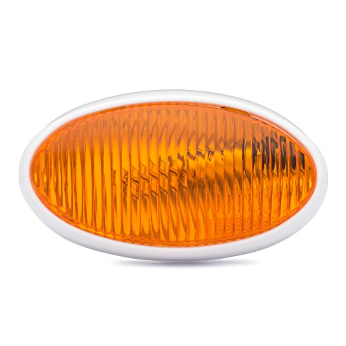 Lumitronics Led Rv Oval Porch Utility Light Amber Lens For Comfortable Lighting Great For