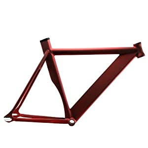 Alloy Track Fixie Frame (Matte Red, 55)