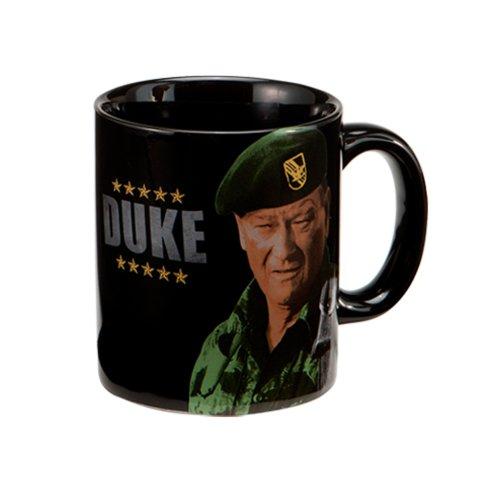 """Vandor 15268 John Wayne """"Duke"""" 12 Oz Ceramic Mug, Black, Green, And Brown"""