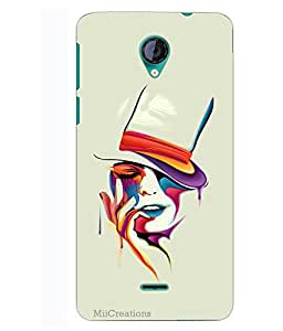 MiiCreations 3D Printed Back Cover for Micromax Unite 2 A106,Painting