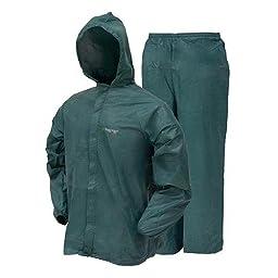 Frogg Toggs DriDucks Mens Ultra Lite Rain Suit, Forest Green, XXL
