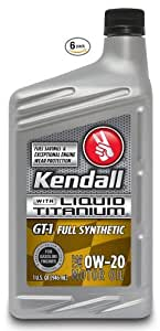 Kendall 1057222 6pk gt 1 full synthetic sae for Sae 0w 20 synthetic motor oil