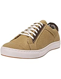 Abof Men Khaki Canvas Sneakers - B072F2RKJZ