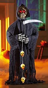 Grim Reaper Greeter Indoor Halloween Decoration from Collections Etc