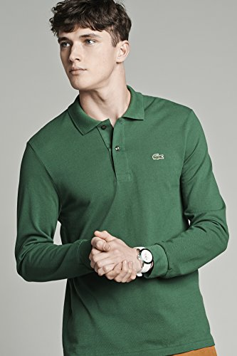 57bd6d92 Lacoste Men's Short Sleeve Vintage Washed Polo with Woven Trim Price ...