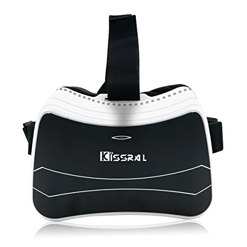 Kissral 3D VR Glasses Headset All in One Machine Android with 5 inch HD Screen 1280*720 Screen Resolution Cortex A7 Processor 1G Ram 8GB available Rom has VR Multi-language Support(No Phone Needed) (No 1 Phone compare prices)