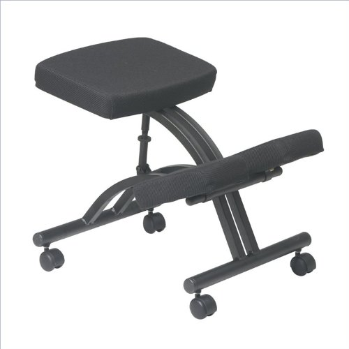 Office Star Ergonomically Designed Knee Chair with Casters