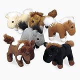 Plush Realistic Horses (1 dozen) - Bulk