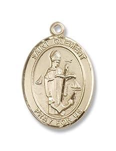 Amazon.com: St. Clement 14kt Gold Medal Patron Saint of Sailors & Sick