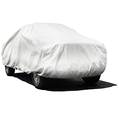 Budge Premier Tyvek Truck Cover Fits Short Bed Extended Cab Pickups up to 232 inches, TK-3X - (Dupont Tyvek, White)