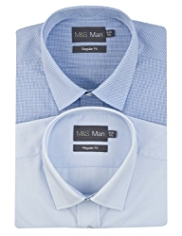 2 Pack Easy Care Assorted Shirts