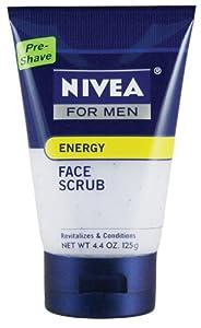 Nivea for Men Energy Face Scrub, 4.4-Oz. Tubes (Pack of 4)