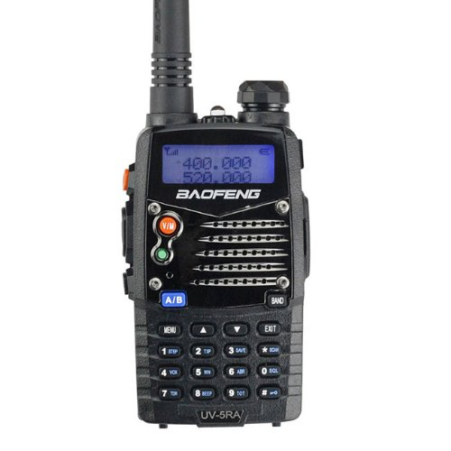 Baofeng UV5RA Ham Two Way Radio 136-174/400-480 MHz Dual-Band Transceiver (Black)