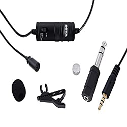 BOYA Omnidirectional Lavalier Microphone for Canon Nikon Sony,for iPhone 5 4S 4DSLR Camcorder & Audio Recorders