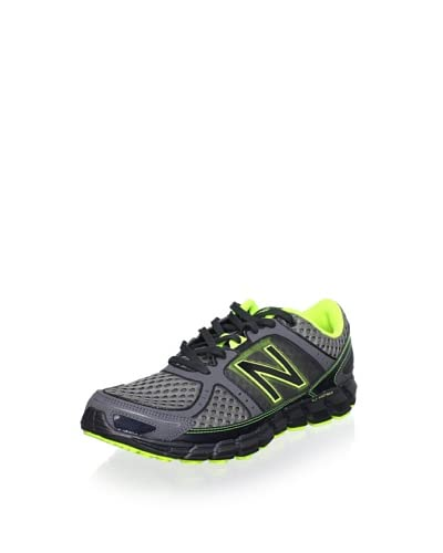 New Balance Men's M750 Athletic Running Shoe  [Grey/Yellow]