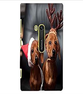 ColourCraft Cute Funny Dogs Design Back Case Cover for NOKIA LUMIA 920