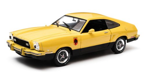 Ford mustang ii Stallion, dark.-yellow/black , 1976, Model Car, Ready-made, Greenlight 1:18 (Ford Mustang Ii compare prices)