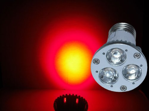 Led Red 630Nm Grow Light 3W - Standard Base 120V