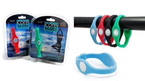 Core Balance Power Silicone Wristband Large (Blue)