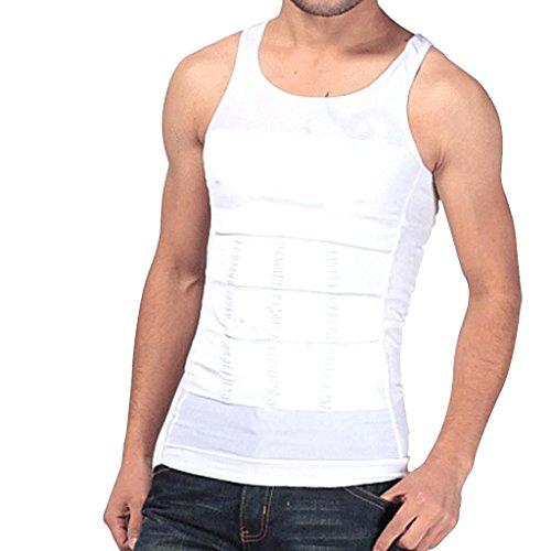 Imported-Mens-Shapewear-Body-Shaper-Vest-Sliming-Chest-Waist-Belly-Underwear-White-M