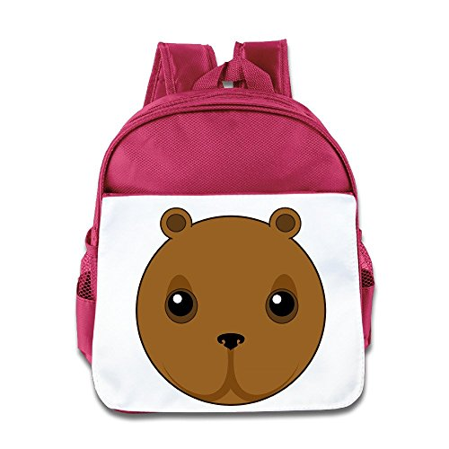 Yesher Custom Cute Bear Head Toddler Backpack Pink