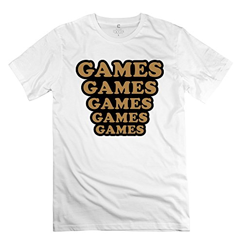 Games Funny Mens T-Shirt Size L Color White