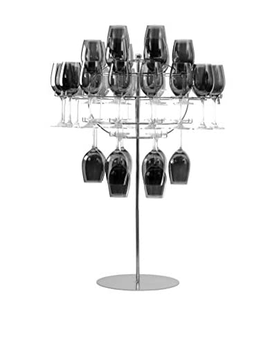 10 Strawberry Street Chandelier Set With Stand, Stainless Steel