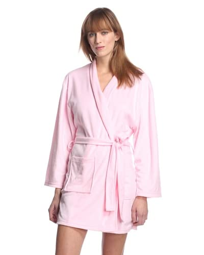 Aegean Apparel Women's Minky Fleece 36″ Shawl Collar Robe