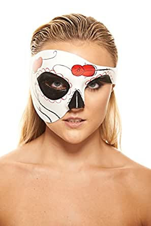 Day of the Dead Masquerade Mask (Unisex One Size)
