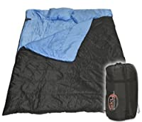 "Huge Double Sleeping Bag 23F/-5C 2 Person Camping Hiking 86""x60"" W/2 Pillows  from Sky Enterprise USA"