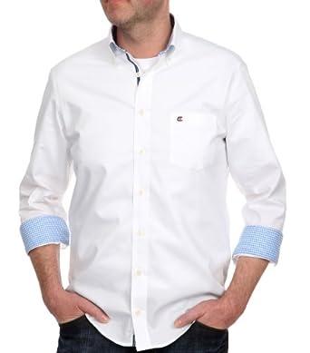 CASAMODA Herren Freizeithemd Comfort Fit 006180/000, Gr. 39/40 (M), Weiß (000 weiß)
