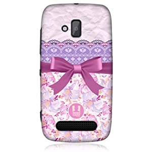 Plum Laces And Ribbons Design Hard Back Case Cover For Nokia Lumia 610
