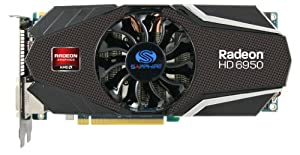 Sapphire Radeon HD 6950 2 GB DDR5 DL-DVI-I/SL-DVI-D/HDMI/Dual Mini DP PCI-Express Graphics Card 100312-2SR